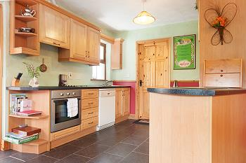 The fully equipped fitted kitchen